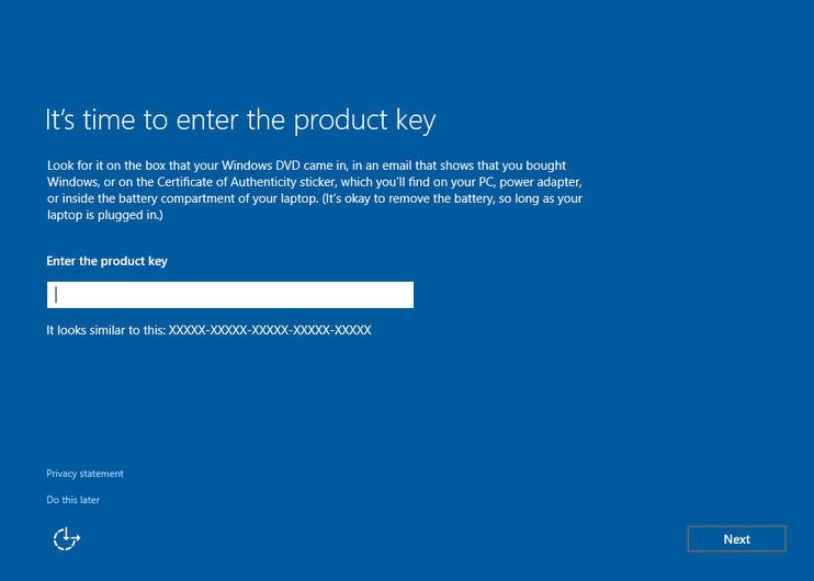 Enter Product Key How to Install Windows 10 11